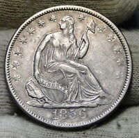 1856 SEATED LIBERTY HALF DOLLAR. 50 CENTS   KEY DATE 938,000 MINTED 5997