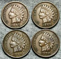 1897 1898 1899 1900 INDIAN HEAD CENTS     NICE LOT     W950