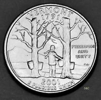 2001 P MINT VERMONT STATE QUARTER UNCIRCULATED CLAD