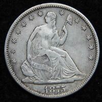 1875S SEATED LIBERTY HALF DOLLAR 50 CENTS. NICE COIN  5276