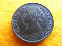 1860 QUEEN VICTORIA TOOTHED BORDER FARTHING NEF