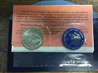 1972 S EISENHOWER DOLLAR UNCIRCULATED  40 SILVER IN BLUE ENVELOPE W/ PAPERWRK