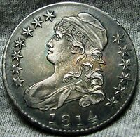 1814 CAPPED BUST HALF DOLLAR     STUNNING TYPE COIN     W856
