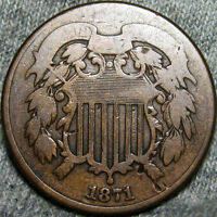 1871 TWO CENT PIECE 2CP TYPE COIN ---- LOW MINTAGE ---- E413
