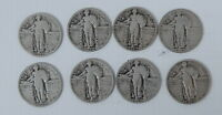 1925 1926 1927 1928 S 1929 1930 SILVER STANDING LIBERTY QUARTER DOLLAR 25C COINS