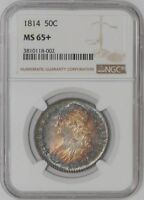 1814 CAPPED BUST HALF 50C MS65 NGC