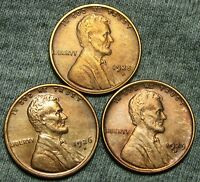 1925-D 1926-D 1929-D LINCOLN WHEAT CENTS --- STUNNING LOT --- T381
