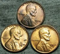 1930 1930-S 1935-S LINCOLN WHEAT CENTS --- GEM BU LOT --- W501