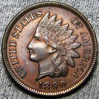 1890 INDIAN HEAD CENT PENNY     GEM BU CONDITION     A347
