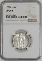1927 STANDING LIBERTY QUARTER 25C MINT STATE 67 NGC