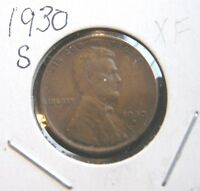 1930 S EXTRA FINE LINCOLN WHEAT CENT 2 BUT YOU GRADE IT