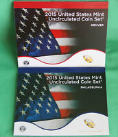 2015 ANNUAL P AND D US MINT UNCIRCULATED COIN SET 28 COINS