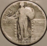 STANDING LIBERTY QUARTER   1926 S   HISTORIC SILVER   $1 UNLIMITED SHIPPING