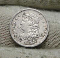 1835 CAPPED BUST HALF DIME H10C 5 CENTS -  OLD COIN, SHIPS FREE  6151
