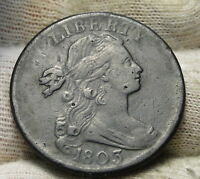 1803 PENNY DRAPED BUST CENT 1 C -  COIN, SHIPS FREE  5774