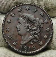 1818 PENNY CORONET LARGE CENT -   COIN, SHIPS FREE  6172