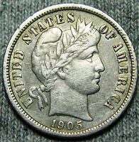 1905-S BARBER DIME US COIN --- STUNNING --- N530