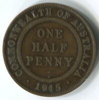 1915 'H'  HALFPENNY COIN   FINE CONDITION