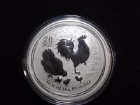 INV T48 AUSTRALIA 2017 SILVER 1OZ LUNAR YEAR OF THE ROOSTER