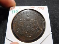 INV T65 GREAT BRITAIN 1795 GRIMSTEAD 1/2 PENNY TOKEN
