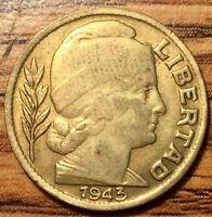 1943 ARGENTINA 20 CENTAVOS CAPPED LIBERTY COIN