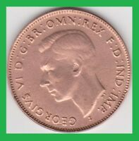 1943 AUSTRALIA  BRITISH COMMONWEALTH  HALF PENNY KM 41   CLEANED?? YOU GRADE