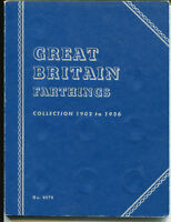GREAT BRITAIN FARTHING 1902 1936 COMPLETE COLLECTION   FOLDE