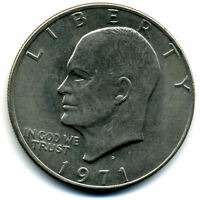NICE 1971 D EISENHOWER DOLLAR CHOICE BRILLIANT UNCIRCULATED MINT STATE COIN4936