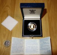 1989 GOLD PROOF HALF SOVEREIGN SOLID 22CT BOXED WITH COA NUM