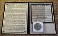 1783 SPANISH PIECE OF EIGHT SILVER 8 REALES FROM CAZADOR SHIPWRECK 1784   COA