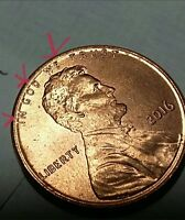 2016 LINCOLN PENNY ERROR  OFF CENTER 65H