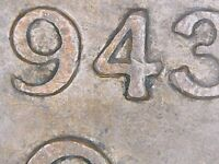 1943 KING GEORGE VI CANADA PENNY ERROR COIN DIE CLASH OBVERSE & DOUBLE LOWER 4