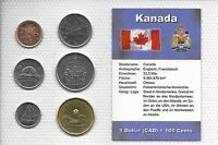 CANADA   UNCIRCULATED COIN SET  1 CENT TO 1 DOLLAR