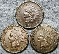 1882  1883  1884 INDIAN HEAD CENTS     NICE LOT     A722
