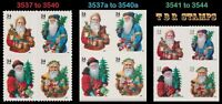 HOLIDAY 2001 SANTA COMPLETE SET 3 BLOCKS 3537 40 3537A 40A 3541 44 MNH   BUY NOW