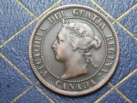 1893 CANADIAN LARGE PENNY QUEEN VICTORIA LOT BX136