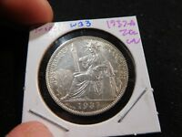 W33 FRENCH INDOCHINA 1937 A 20 CENTIMES UNC