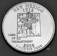 2008 D NEW MEXICO STATE QUARTER UNCIRCULATED CLAD UNITED STATES 50STATE QUARTERS