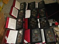 DOUBLE DOLLAR CANADA MINT SETS 12 SETS  1979 TO 1990  COLLECTION.