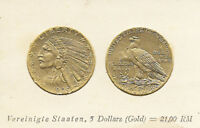 UNITED STATES   1929 COIN CARD BY GREILING GERMANY