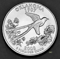 2008 D OKLAHOMA STATE QUARTER UNCIRCULATED CLAD UNITED STATES 50 STATE QUARTERS