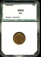 1934-D 1C LINCOLN WHEAT CENT IN GEM UNCIRCULATED CONDITION