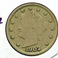 1902 LIBERTY NICKEL FINE  FILLED IN