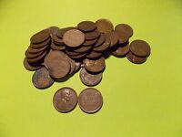 1946 P LINCOLN WHEAT CENT PENNY ROLL    50 CIRCULATED PENNIES@@@