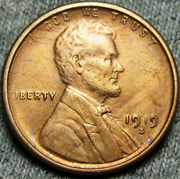 1919-S LINCOLN CENT WHEAT CENT --- STUNNING DETAILS --- N965