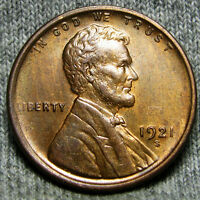 1921-S LINCOLN CENT WHEAT CENT ---- GEM BU CONDITION ---- O307