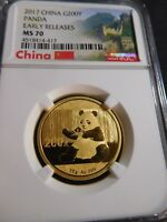S112 CHINA PRC 2017 GOLD PANDA 15G 200 YUAN EARLY RELEASES N