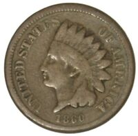 1860 INDIAN HEAD CENT COPPER NICKEL 1C COIN NICE CIRCULATED