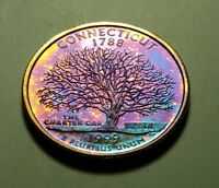 TONED 1999 S CLAD PROOF CONNECTICUT STATE QUARTER W26887