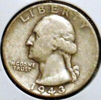 WASHINGTON SILVER QUARTER   1943   $1 UNLIMITED SHIPPING.